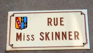 Street signpost near the Chateau de Hattonchatel, Meuse, Lorraine, France.