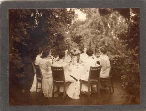 Women at Belle's Table, Holyoke c. 1890